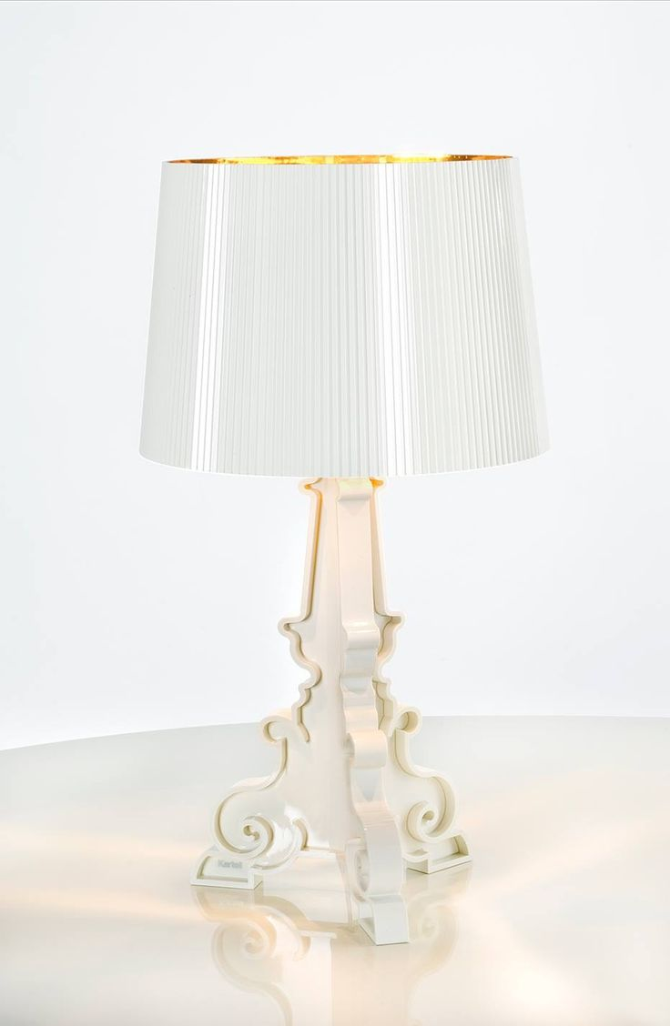 Kartell Bourgie lamp in White/Gold.