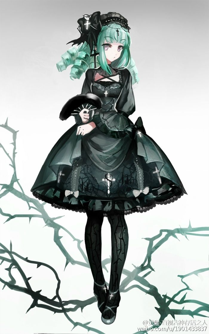 --> ✙✞~Gothic theme Lolita dress~✙✞ design, it will be made into real dress [Designer: weibo•com/u/1901433837]