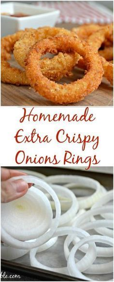 These onion rings are extra crispy and extra delicious!