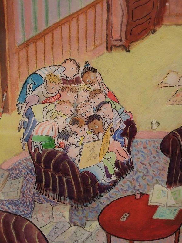 Enfants qui lisent (Jean-Jacques Sempé)