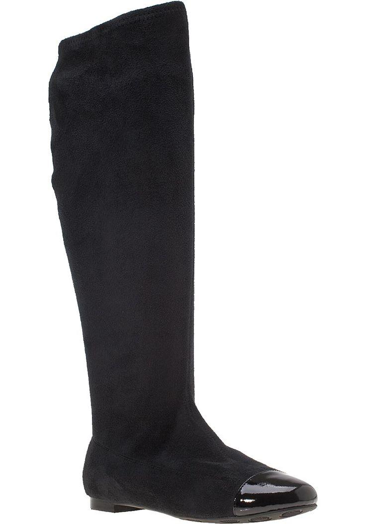 Elli + Tee Манди Tall Boots Черно велурени http://www.womensbootshop.com/ELLI---TEE.shtml: