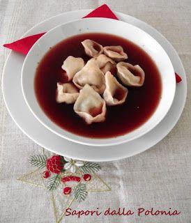 Sapori dalla Polonia: Barszcz wigilijny z uszkami/Zuppa di barbabietole con tortellini ai funghi
