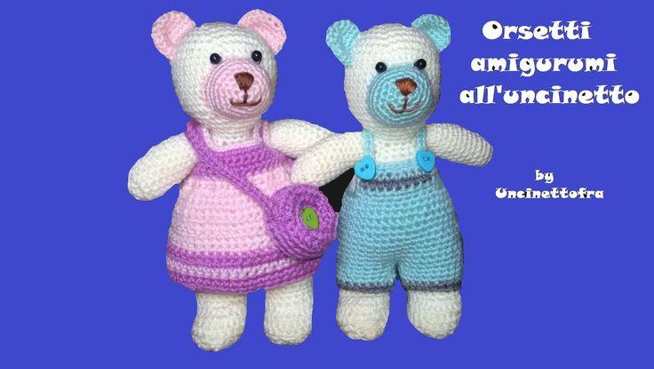 Coppia di orsetti amigurumi all'uncinetto di Uncinettofra su Etsy