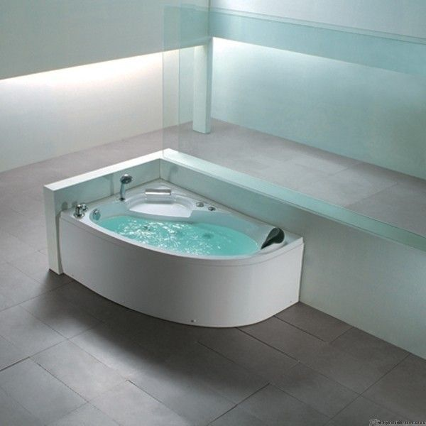 Aquaplus A019 Corner Left Hand Whirlpool Bath Spa Baths 1500mm X