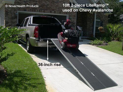 10' Wheelchair Ramp | Scooter Ramp | LiteRamp Portable Handicap Ramps #LiteRamp #2piecemultifoldsuitcase