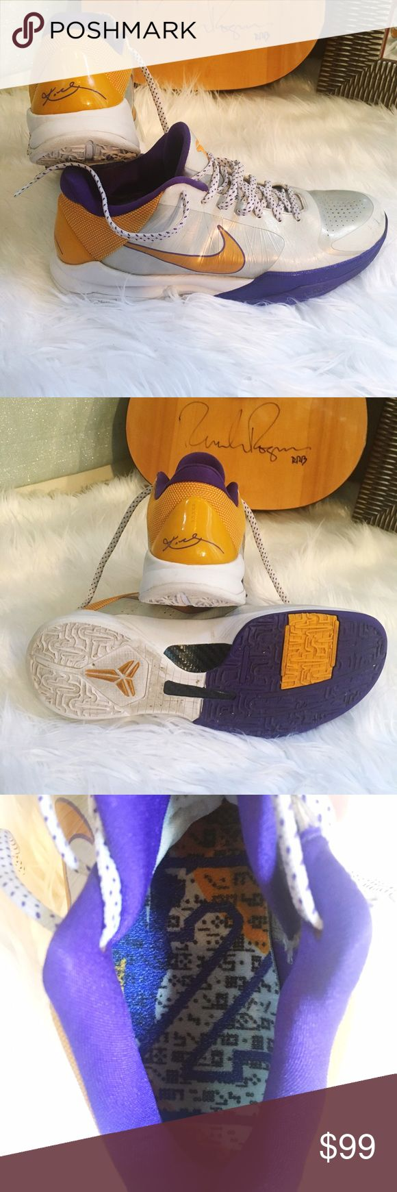 ✨ Nike Zoom Kobe Edition ✨ Size 11- Kobe's number 24 - Laker Colors- worn but not in terrible shape. ✨ Nike Shoes Athletic Shoes