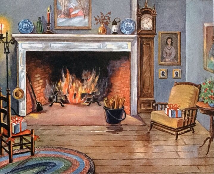 378 best Old Fashioned Christmas: Cards - Fireplaces ...