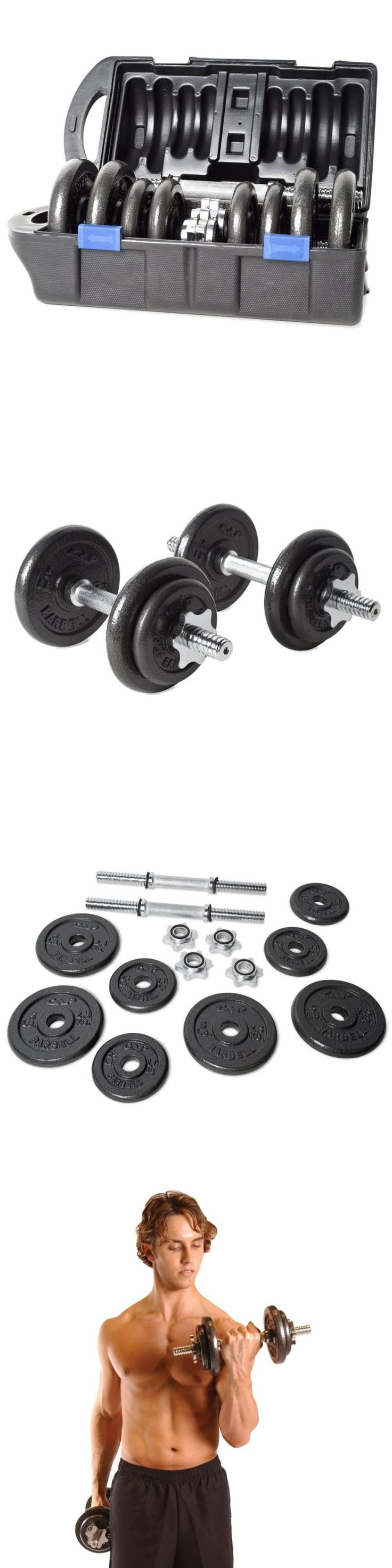 Dumbbells 137865: Dumbbell Weight Set 40 Lbs Pair Adjustable Body Workout Free Weights Portable -> BUY IT NOW ONLY: $65.19 on eBay!