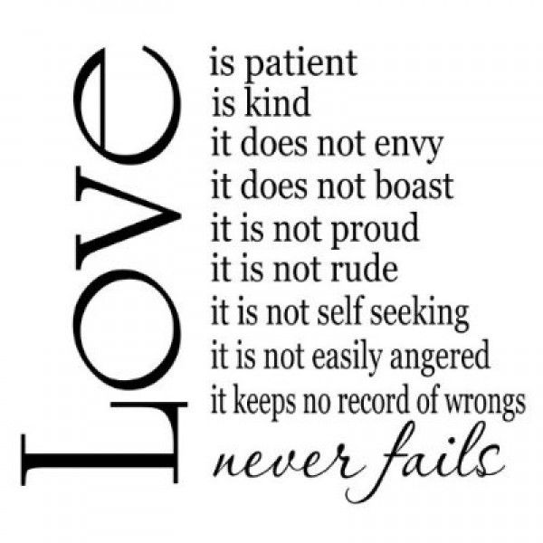 Love Is Patient Quote Impressive 66 Best Love Is Patientlove Is Kind Images On Pinterest  Tattoo