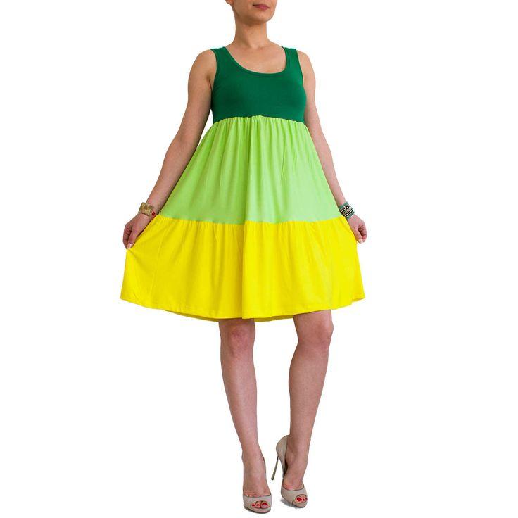 Tiered boho dress/ Green boho dress/ Bohemian tunic/ Maternity midi dress/ Bohemian dress/ Yellow midi dress/ Loose tunic dress CANDY by orchideaboutique on Etsy