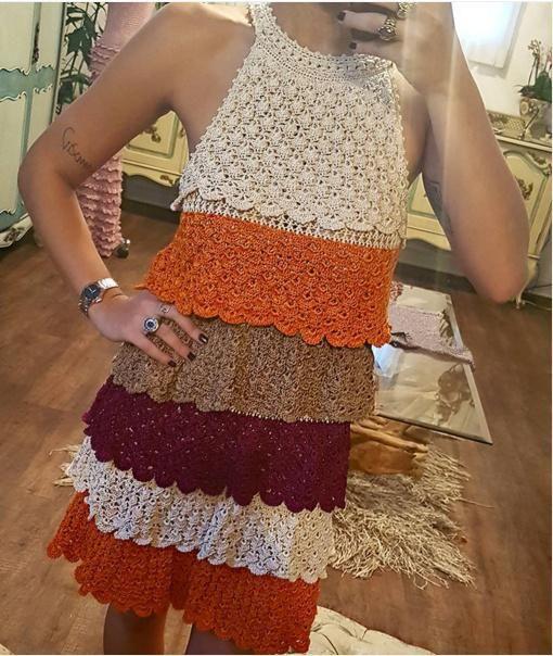 Vanessa Montoro - Moulen Rouge crochet dress