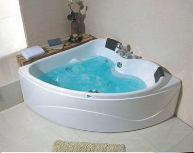 Bathtub with jets for two person sidebyside corner - Whirlpool tubs for small bathrooms ...