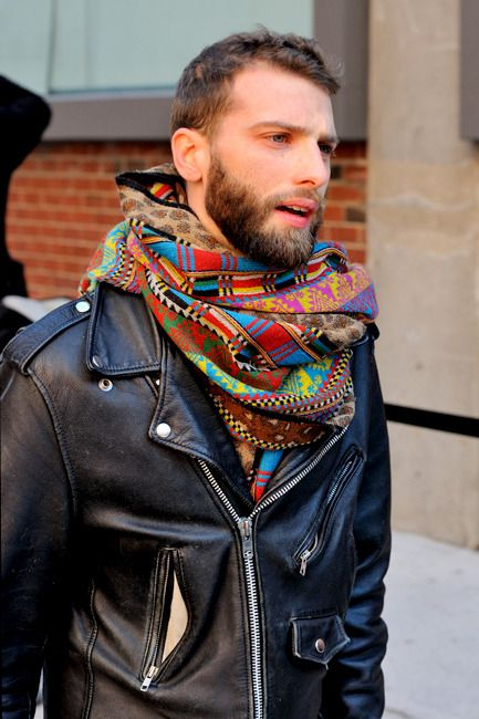Not sure if I dig the scarf or the leather jacket more... wWPS. (What Would Peta Say?)