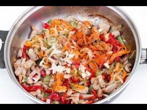 Фунчоза с мясом и овощами https://www.youtube.com/watch?v=H-Vxz2xGWnI