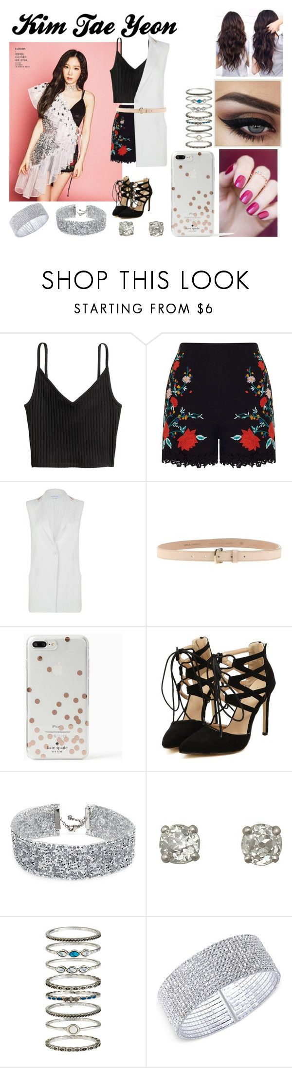 """""""Kim Tae Yeon"""" by ohmy-fangirl on Polyvore featuring Nuevo, H&M, Miss Selfridge, Patrizia Pepe, Dsquared2, Kate Spade, DANNIJO, Accessorize and Anne Klein"""