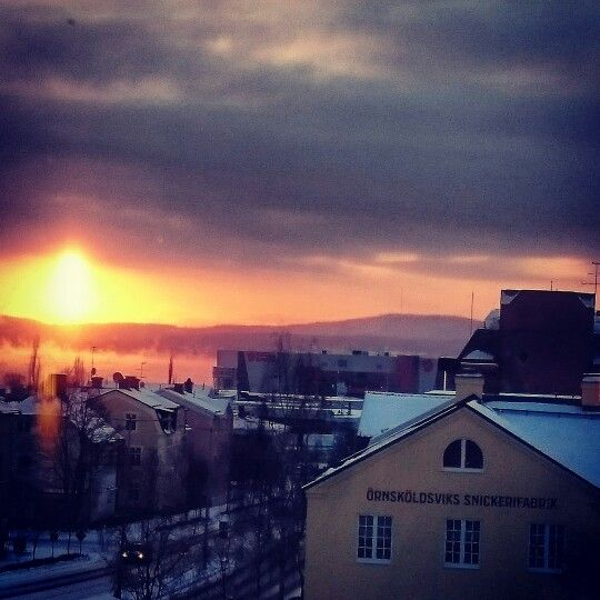 Vinterdag i Örnsköldsvik