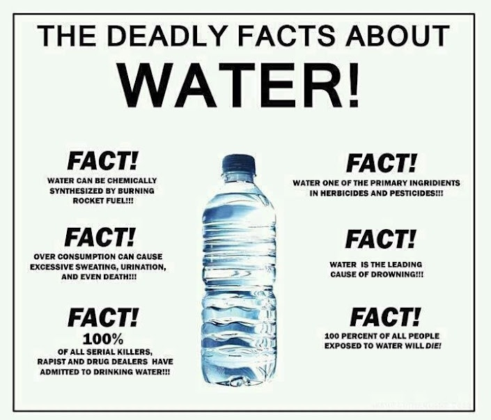 .Laugh, Dead Water, Funny Stuff, Humor, Water Facts, Things, Funnystuff, Drinks Water, Dead Facts