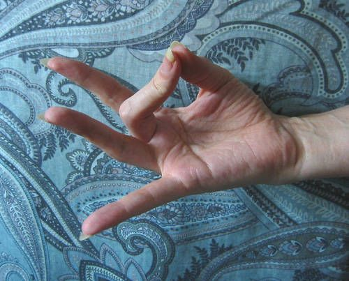 """Mudras are a silent language of self-expression used in Hindu and Buddhist teachings. Mudra hand gestures or poses are often used in yoga practice, meditation, and for healing purposes.  The Akash Mudra helps to """"center"""" your energies. It nourishes any part of your body that is lacking."""