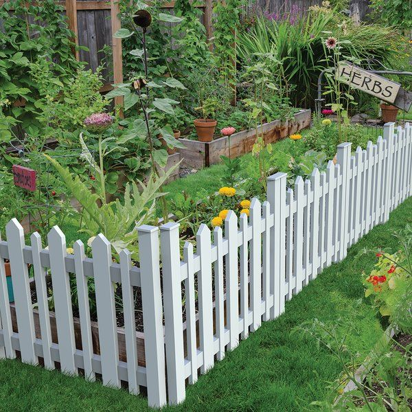 2 5 Ft H X 3 Ft W Picket Accent Fence In 2020 Garden Fence