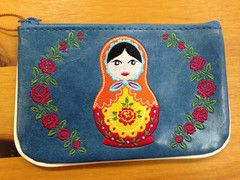 Russian Doll Embroidered Change Purse