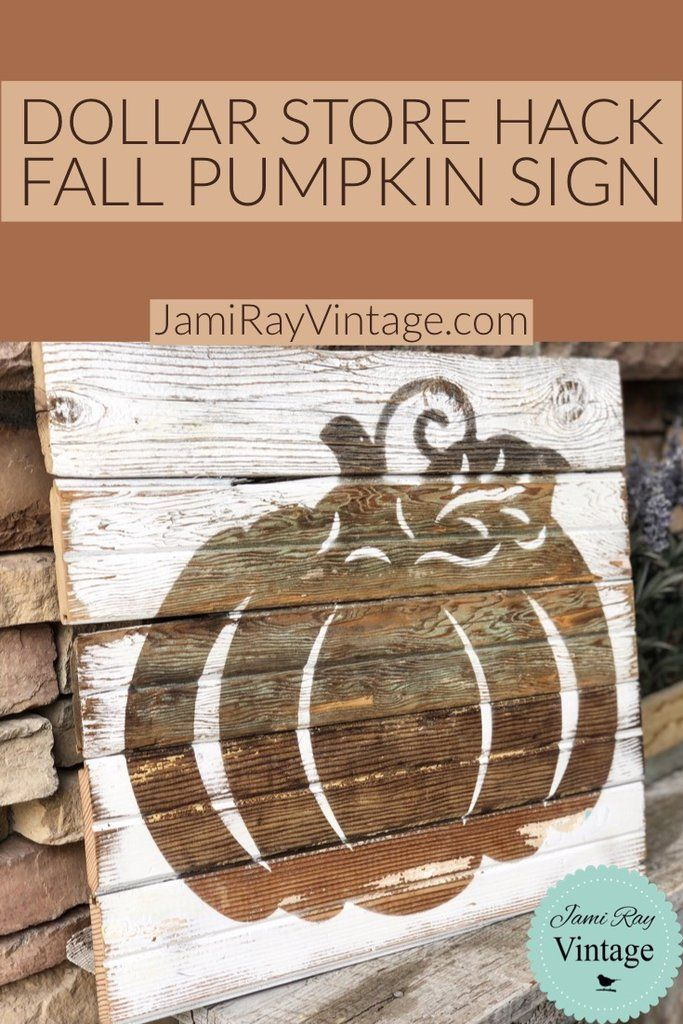Dollar Store Fall Pumpkin Sign