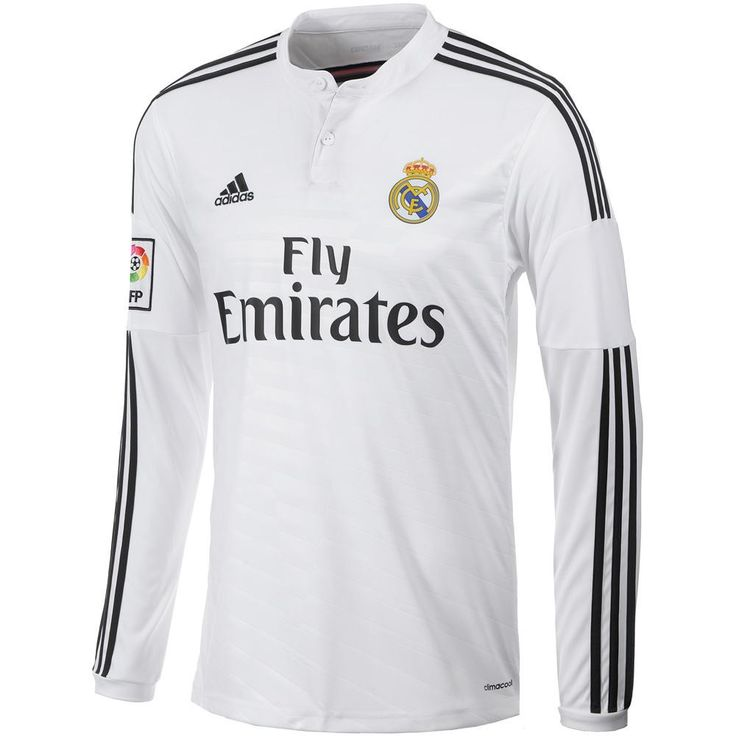 Adidas Real Madrid Home Jersey Long Sleeve (S)