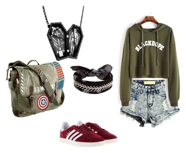 """Sans titre #24"" by dobrodod on Polyvore featuring mode, adidas, Marvel, Fallon et Curiology"