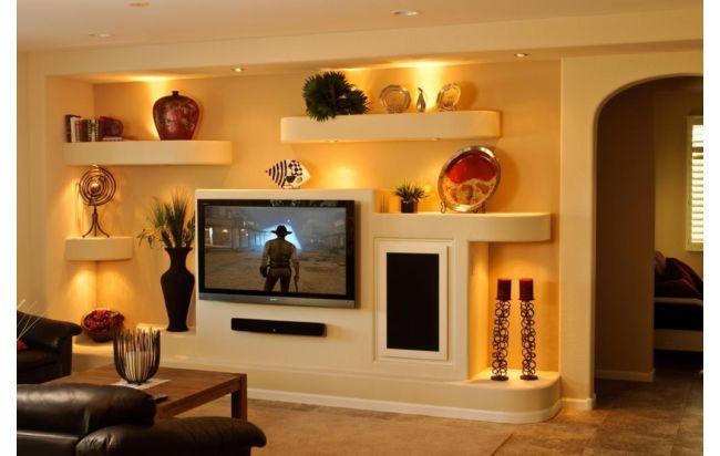 Centros de entretenimiento confeccionados en drywall en for Google decoracion de interiores
