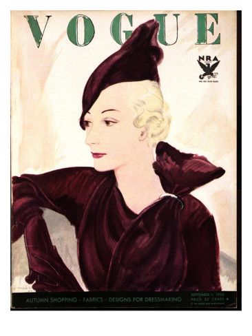 Vogue Cover - September 1 1933 Poster Print by Jean Pagès at the Condé Nast Collection