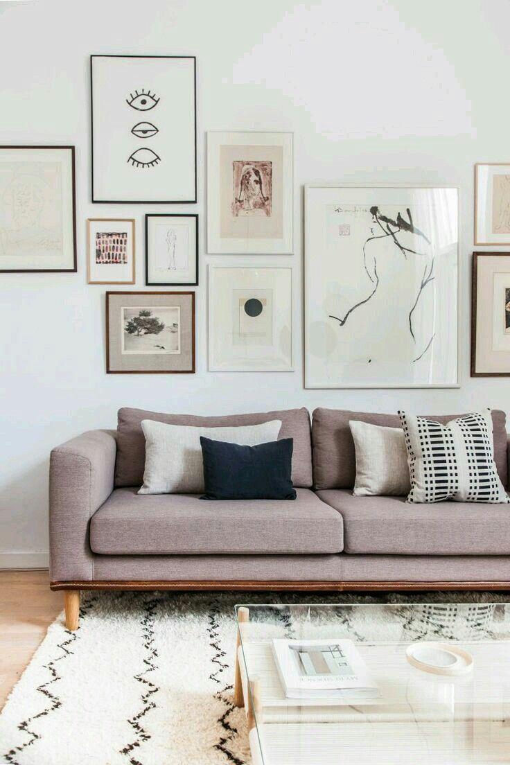 Bilderwand Im Wohnzimmer Galerie Wohnen Einrichten Interior