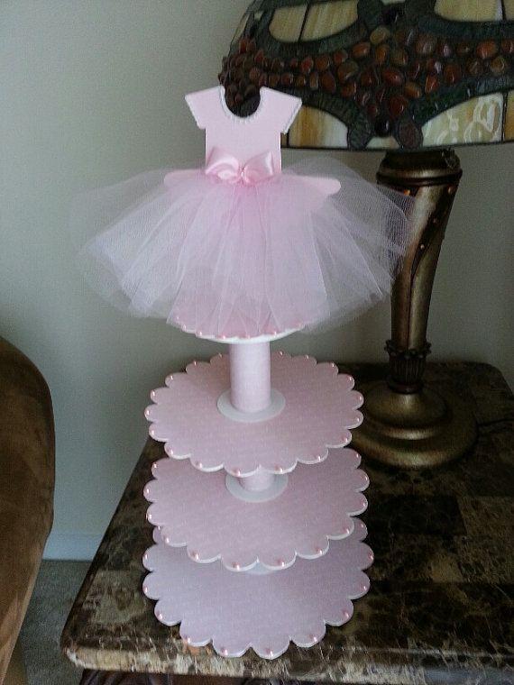 Tres niveles rosa bailarina zapato Favor por TheCarriageShoppe
