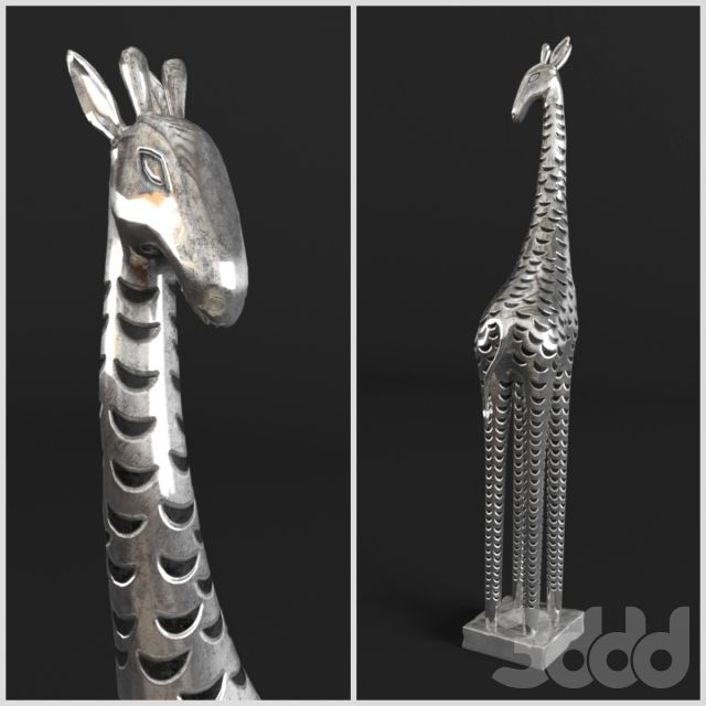 3d модели: Скульптуры - Статуэтки жирафы