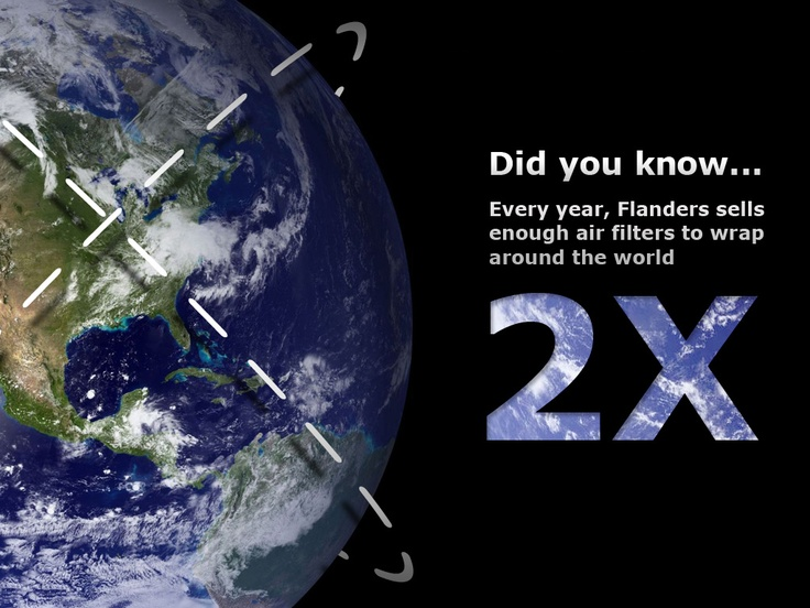 Did you know, Flanders Filters produces enough filters every year to wrap the world, twice!