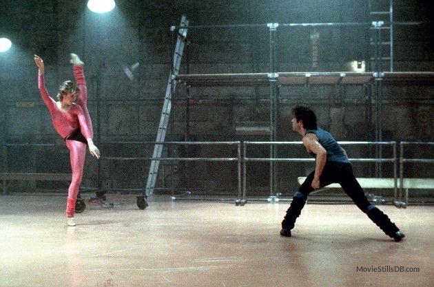Staying Alive publicity still of John Travolta & Cynthia Rhodes