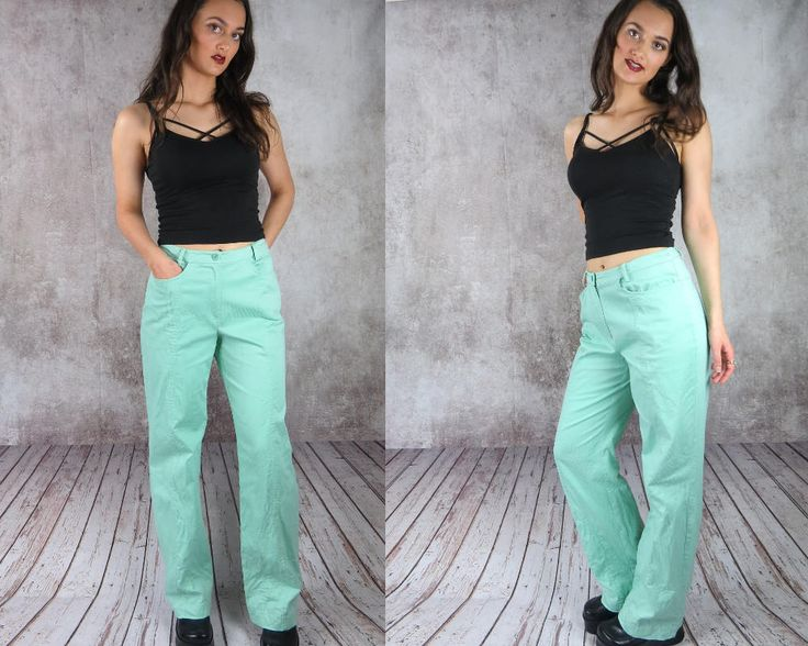 High Waisted Bell Bottom Pants / Light Blue Pants / Aqua Pants / Flare Pants / Corduroy Bell Bottoms / Pinstripe Pants / Striped Pants