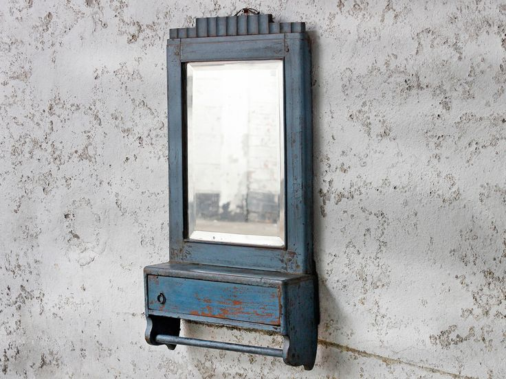Blue Vintage Mirror from Scaramanga's vintage furniture and interiors collection #vintage #interior #homeinspo #inspiration #ideas #homedecorideas #blueaesthetic