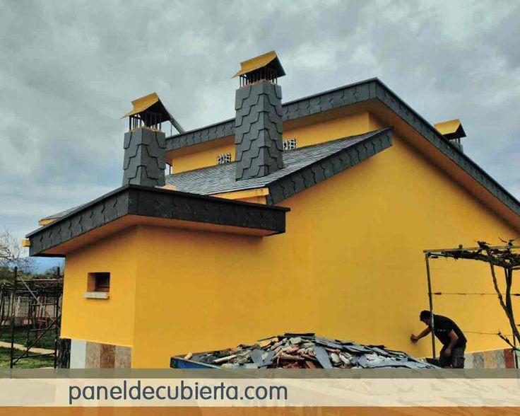 Panel de madera para tejados y cubiertas con n cleo for Aislante para tejados