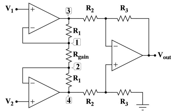 #InstrumentationAmplifier circuit  is a type of #DifferentialAmplifier that has been outfitted with input buffer amplifiers.