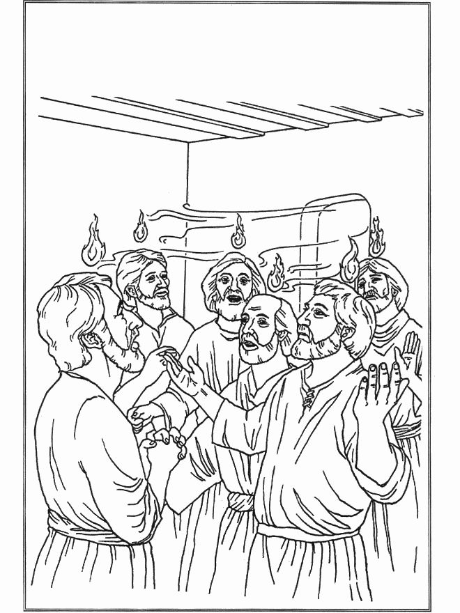 Peter And Cornelius Coloring Page : peter, cornelius, coloring, Peter, Cornelius, Coloring, Sketch, Bible, Pages,, Coloring,, Crafts