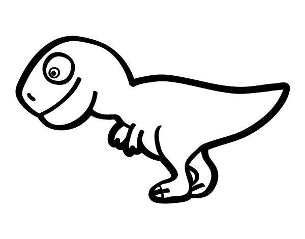 Dibujo de Tiranosaurio rex joven para colorear