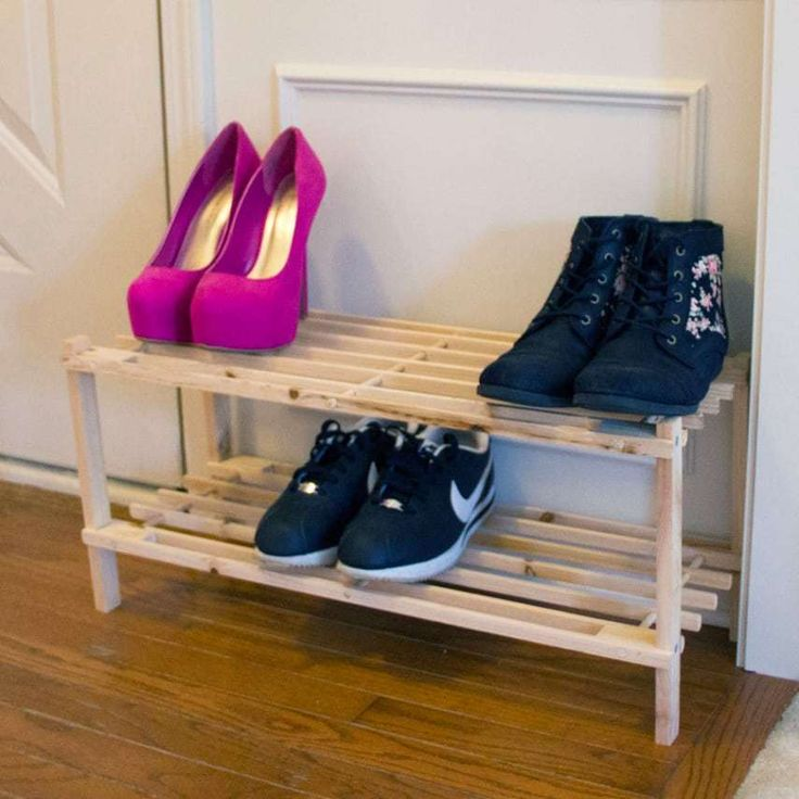Home Storage Organization Closet, Shoes Jewelry Organizers Closet OrganizersKeep your shoes organized with the Lavish Home Blonde Shoe Storage Rack. It is the ideal solution for your bedroom closet or at an entry where you have multiple pairs of shoes. Just stack footwear on the two shelves to keep them off the floor. The blonde color of the unfinished pine wood adds a rustic but elegant touch to any space. The item is compact enough to fit in an apartment, closet or small home. The wood…