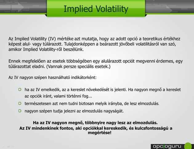 Implied volatility term structure stock index options