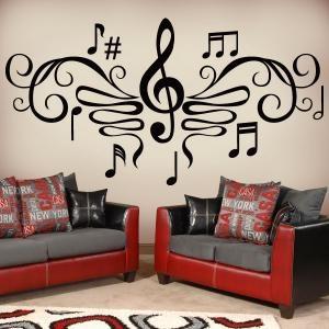 Vinilos Decorativos Filigrana Musical