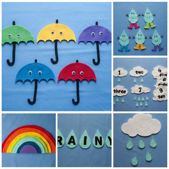 Discover the Weather Felt Board Pattern eBook CD by FeltBoardMagic