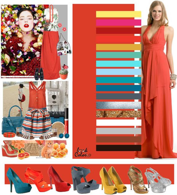 one more shade of coral: color combinations