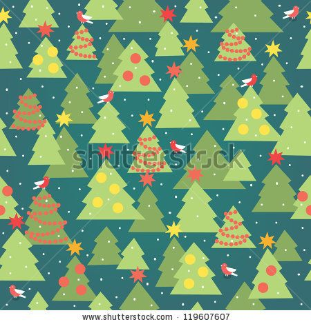 Christmas seamless pattern - stock vector