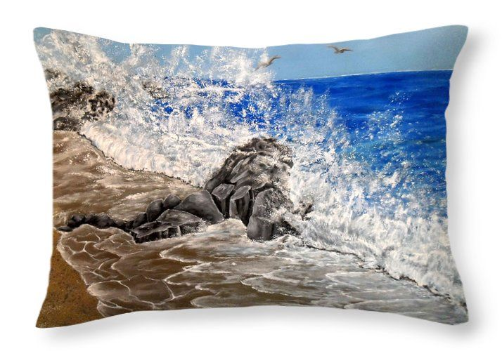 Throw Pillow,  home,accessories,sofa,couch,bedroom decor,cool,beautiful,fancy,unique,trendy,artistic,awesome,fahionable,unusual,gifts,presents,for,sale,design,ideas,blue,waves,coastal,sea