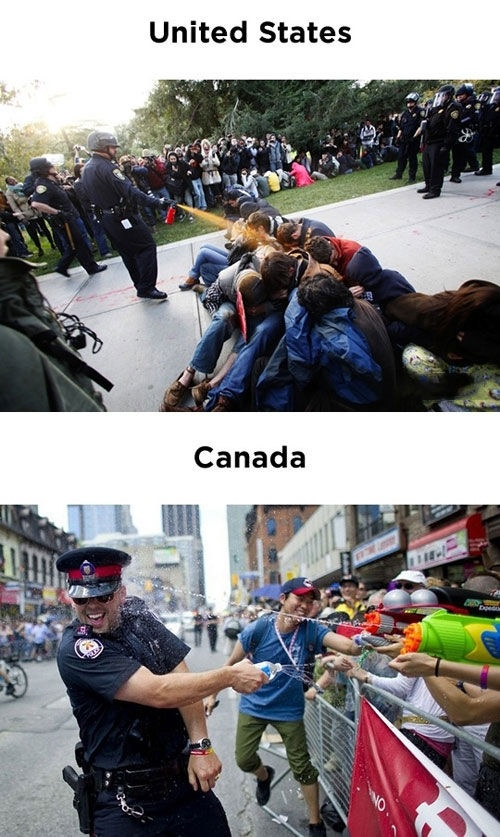 funny United States vs Canada cops on imgfave