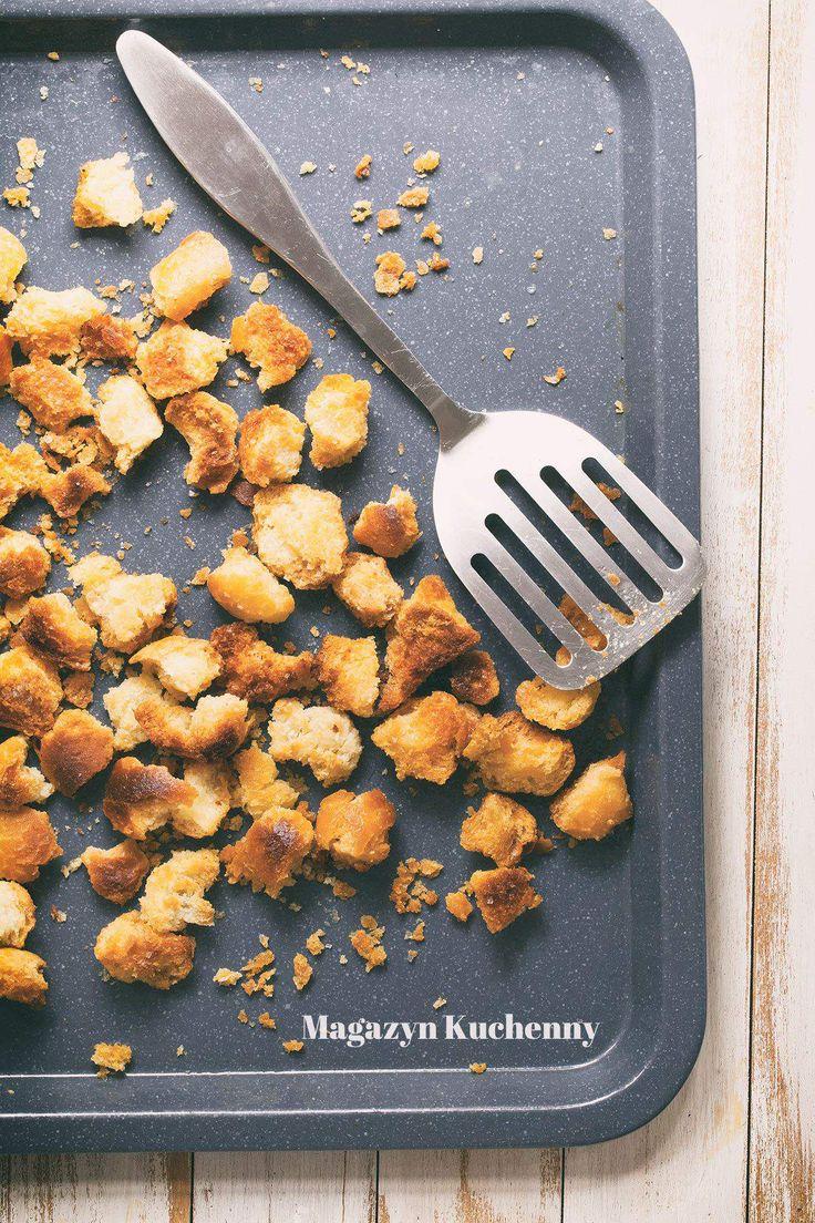 How to make croutons   Jak zrobić grzanki do sałatek i zup