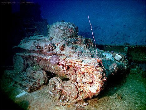 """Truk, which was billed at the time as the """"Japanese Pearl Harbor"""" was home to five airstips and most of the Japanese fleet when Operation Hailstone began in February 1944.  Under aerial bombardment for three straight days, the Japanese stronghold was removed from contention in the war, and most of the ships in her harbor sank to a shallow grave, where today sport divers have easy access to them."""
